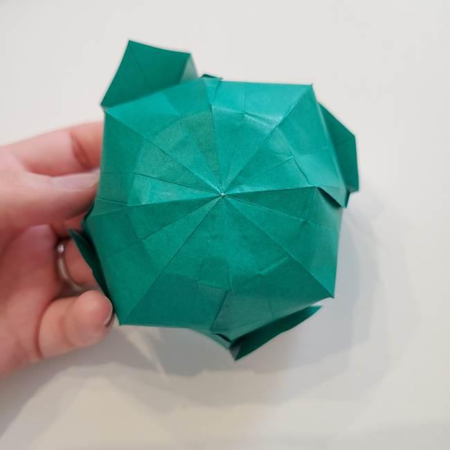 紫陽花の折り紙 葉っぱの作り方折り方(48)
