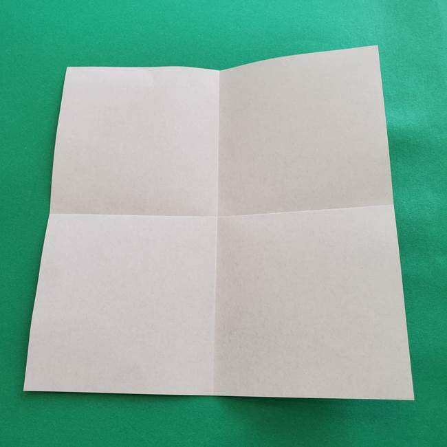 紫陽花の折り紙 葉っぱの作り方折り方(5)