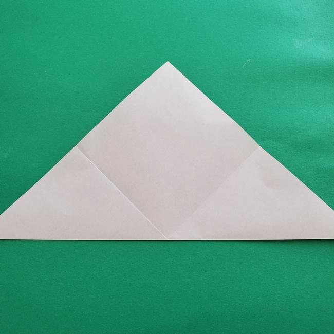 紫陽花の折り紙 葉っぱの作り方折り方(6)