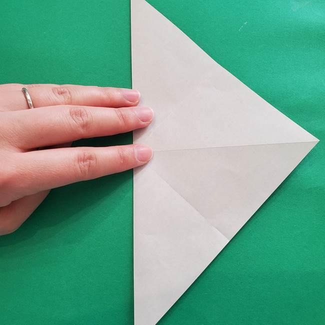 紫陽花の折り紙 葉っぱの作り方折り方(8)