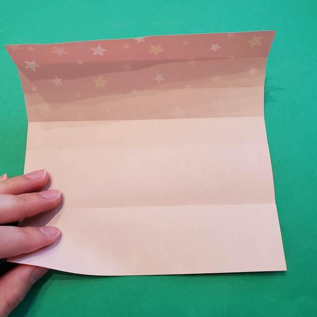 誕生日の飾り付け 折り紙の星を大量につなげて手作りガーランドの作り方①折る(10)