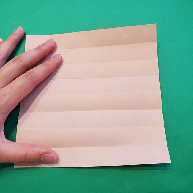 誕生日の飾り付け 折り紙の星を大量につなげて手作りガーランドの作り方①折る(11)