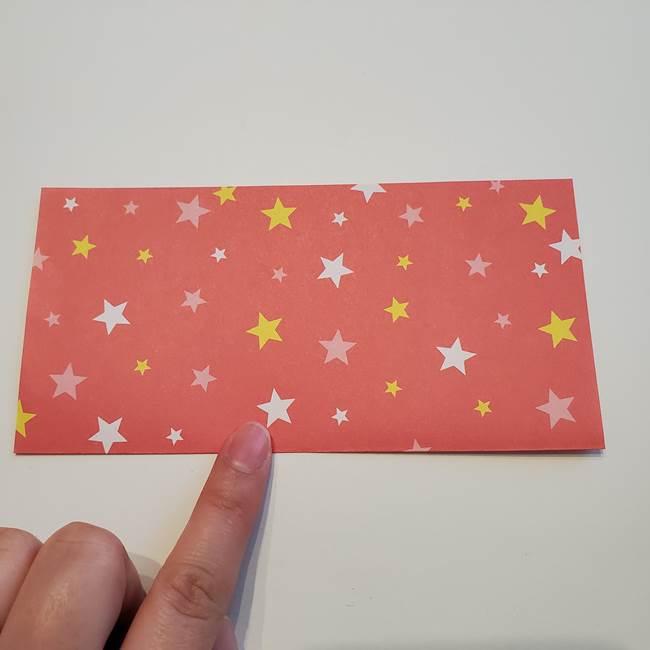 誕生日の飾り付け 折り紙の星を大量につなげて手作りガーランドの作り方①折る(2)