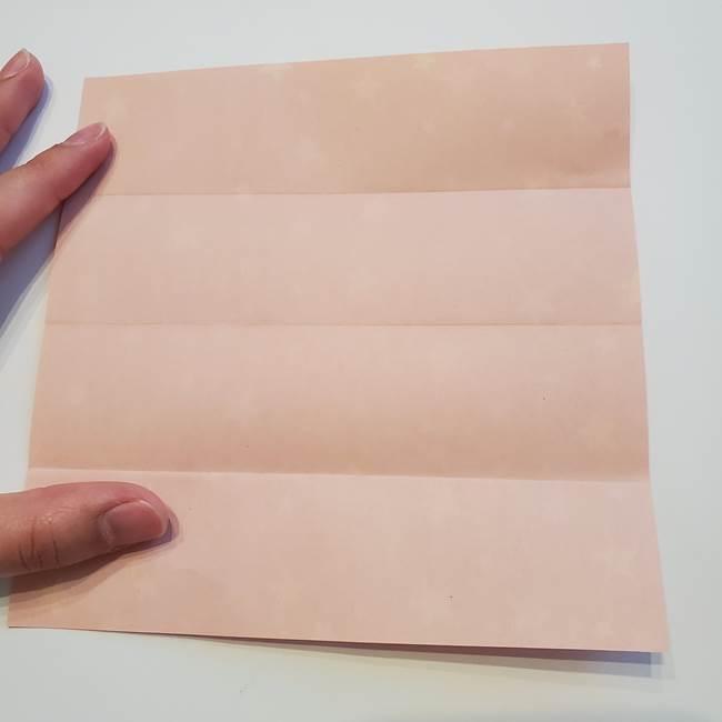 誕生日の飾り付け 折り紙の星を大量につなげて手作りガーランドの作り方①折る(5)