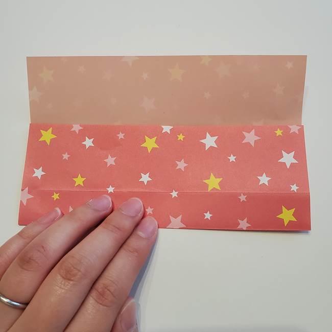 誕生日の飾り付け 折り紙の星を大量につなげて手作りガーランドの作り方①折る(6)