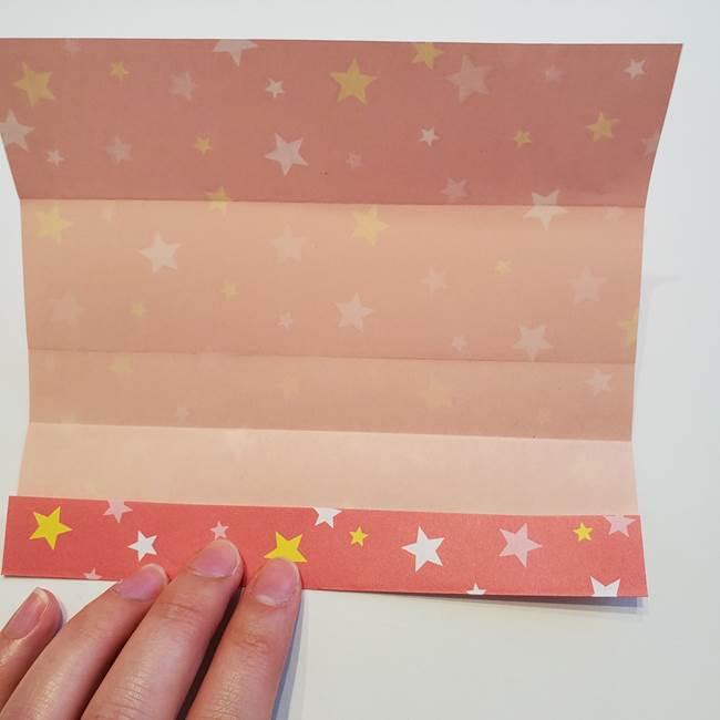 誕生日の飾り付け 折り紙の星を大量につなげて手作りガーランドの作り方①折る(8)
