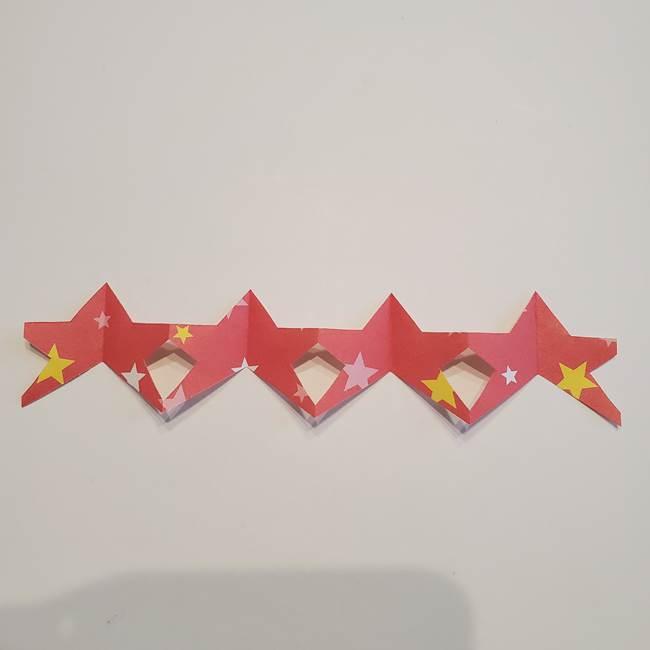 誕生日の飾り付け 折り紙の星を大量につなげて手作りガーランドの作り方②切る(5)