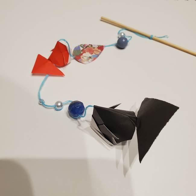 金魚の吊るし飾りの折り紙 作り方折り方A(16)