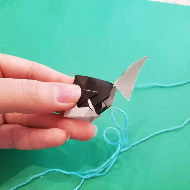 金魚の吊るし飾りの折り紙 作り方折り方A(4)