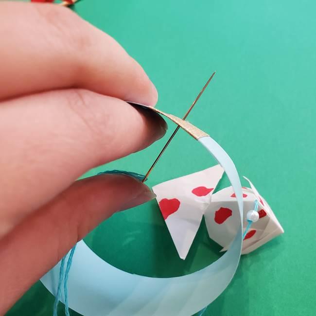 金魚の吊るし飾りの折り紙 作り方折り方B(4)