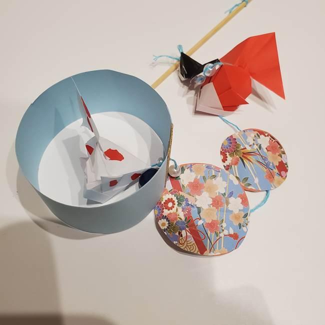 金魚の吊るし飾りの折り紙 作り方折り方B(6)