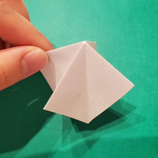 6 月の折り紙 あじさいを立体に折る折り方作り方(10)