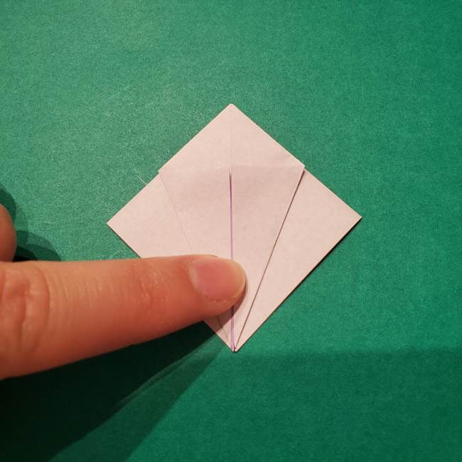 6 月の折り紙 あじさいを立体に折る折り方作り方(12)