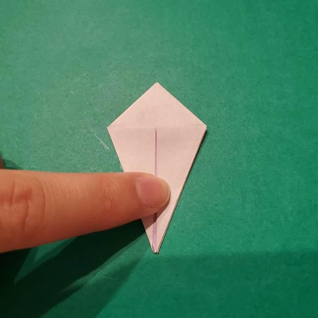 6 月の折り紙 あじさいを立体に折る折り方作り方(13)