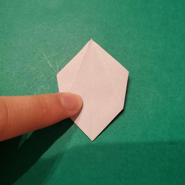 6 月の折り紙 あじさいを立体に折る折り方作り方(27)