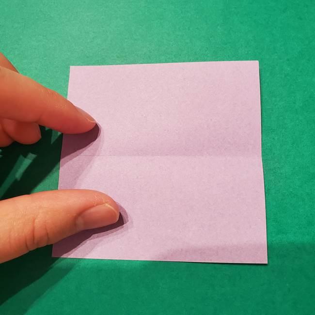 6 月の折り紙 あじさいを立体に折る折り方作り方(3)