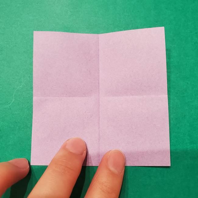 6 月の折り紙 あじさいを立体に折る折り方作り方(5)