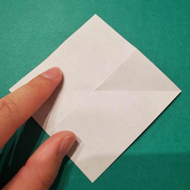 6 月の折り紙 あじさいを立体に折る折り方作り方(7)