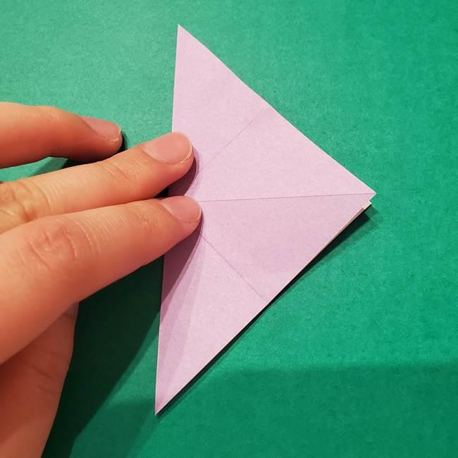 6 月の折り紙 あじさいを立体に折る折り方作り方(8)
