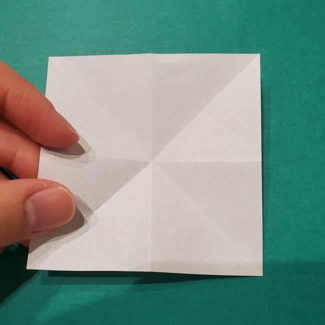 6 月の折り紙 あじさいを立体に折る折り方作り方(9)