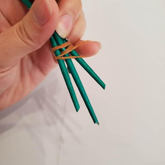 ひまわりの折り紙 立体的な花束とブーケの作り方①花束(6)