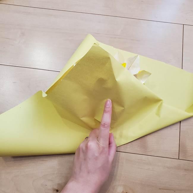 ひまわりの折り紙 立体的な花束とブーケの作り方④ブーケ(2)