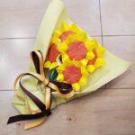ひまわりの折り紙 立体的な花束とブーケの簡単な作り方☆ラッピング方法も紹介!