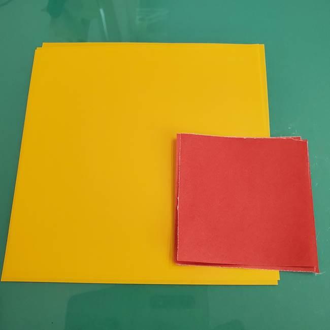 ひまわりの折り紙 立体的な花束とブーケ*用意するもの(1)