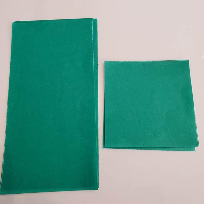 ひまわりの折り紙 立体的な花束とブーケ*用意するもの(2)