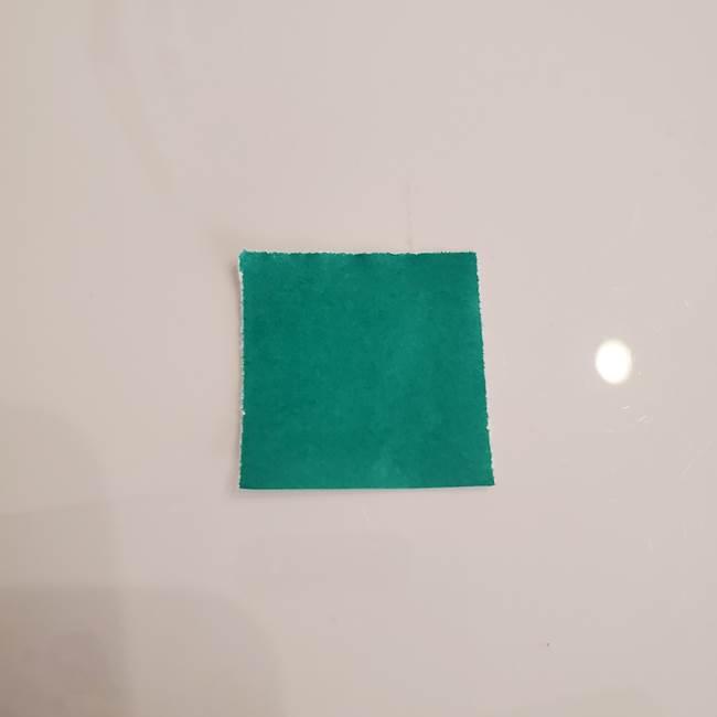 ひまわりの折り紙 立体的な葉っぱと茎の折り方作り方①葉(1)
