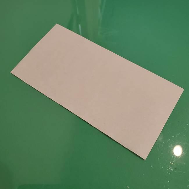 ひまわりの折り紙 立体的な葉っぱと茎の折り方作り方②茎(1)