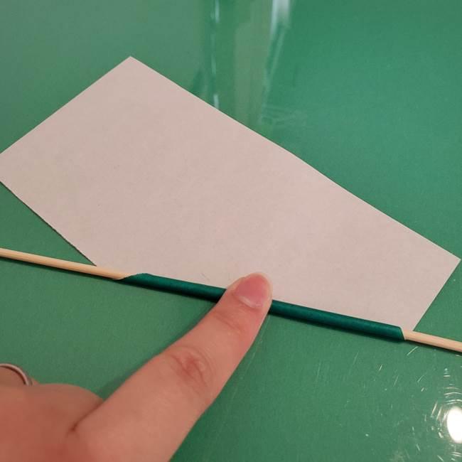 ひまわりの折り紙 立体的な葉っぱと茎の折り方作り方②茎(3)