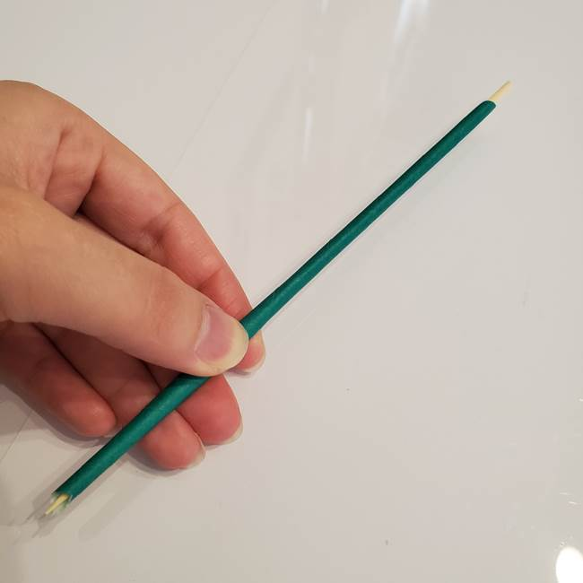 ひまわりの折り紙 立体的な葉っぱと茎の折り方作り方②茎(4)