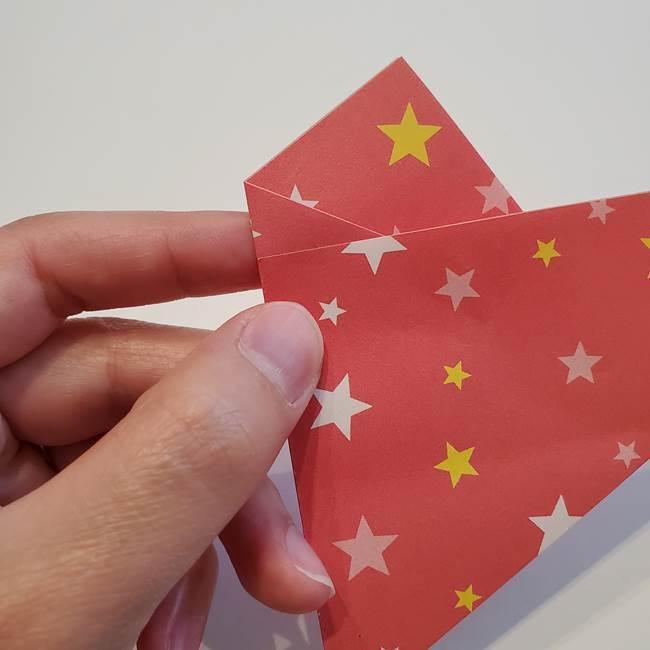 ぷくぷく星の折り紙 星型の箱の折り方作り方①六角形(10)