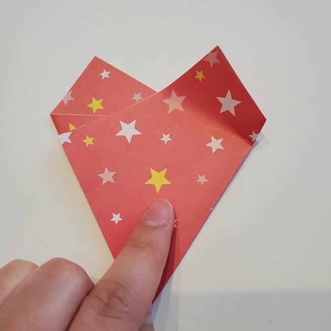 ぷくぷく星の折り紙 星型の箱の折り方作り方①六角形(12)