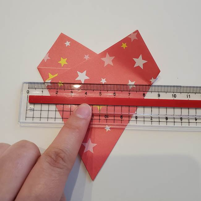ぷくぷく星の折り紙 星型の箱の折り方作り方①六角形(13)