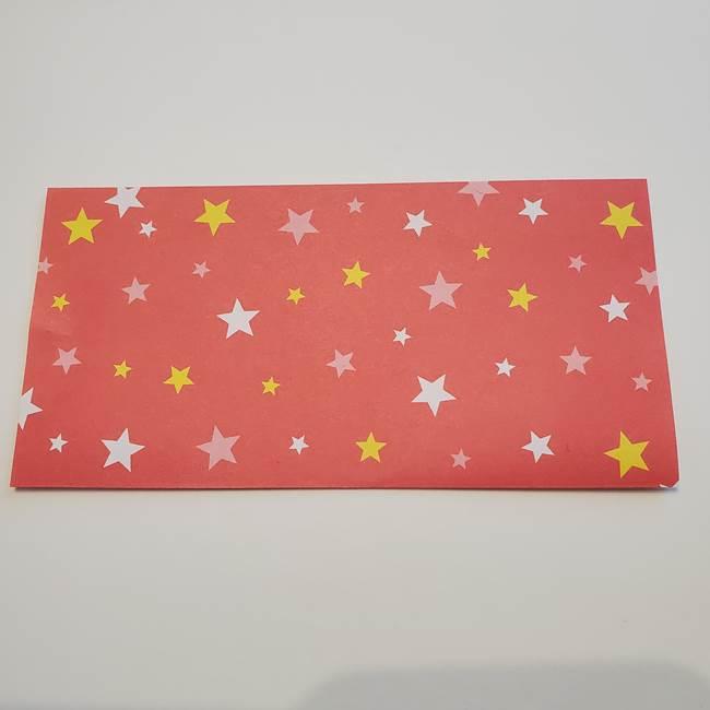ぷくぷく星の折り紙 星型の箱の折り方作り方①六角形(2)