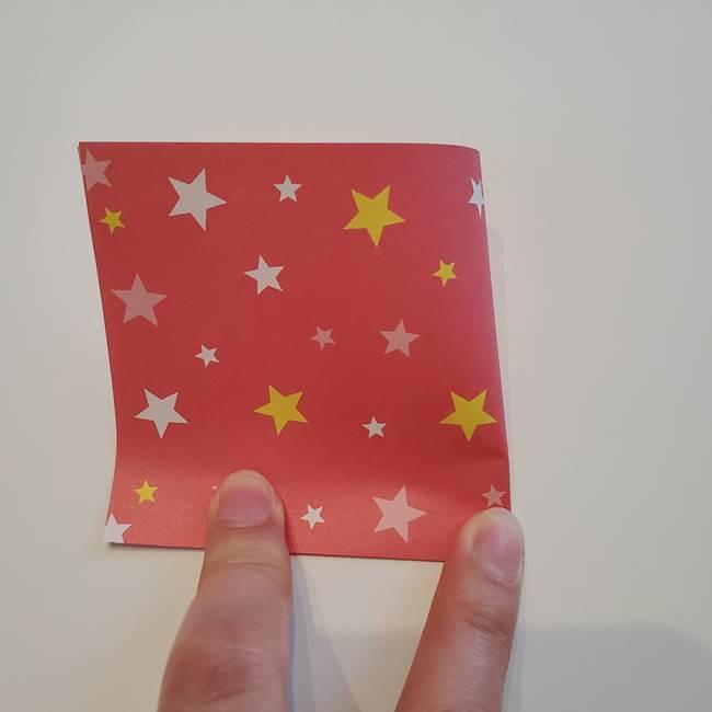 ぷくぷく星の折り紙 星型の箱の折り方作り方①六角形(3)