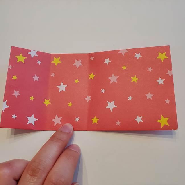 ぷくぷく星の折り紙 星型の箱の折り方作り方①六角形(6)