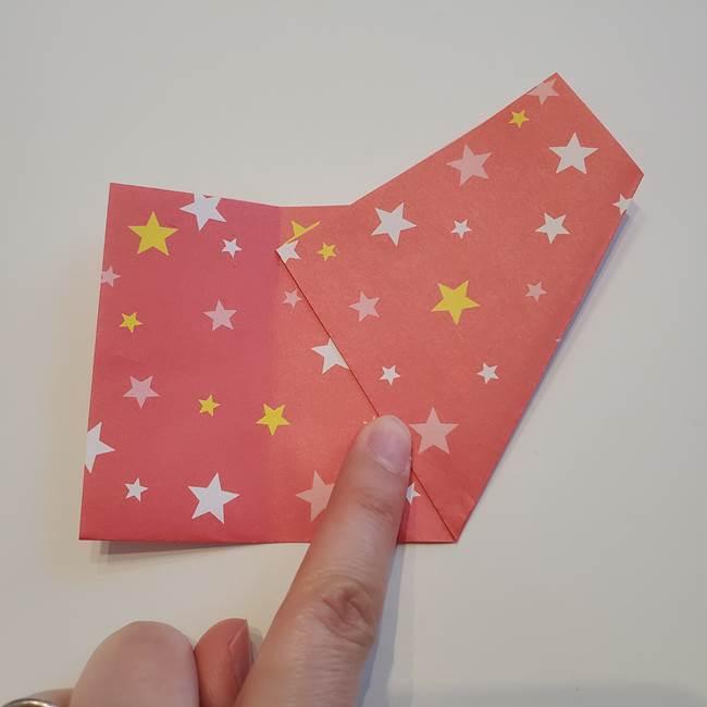 ぷくぷく星の折り紙 星型の箱の折り方作り方①六角形(7)