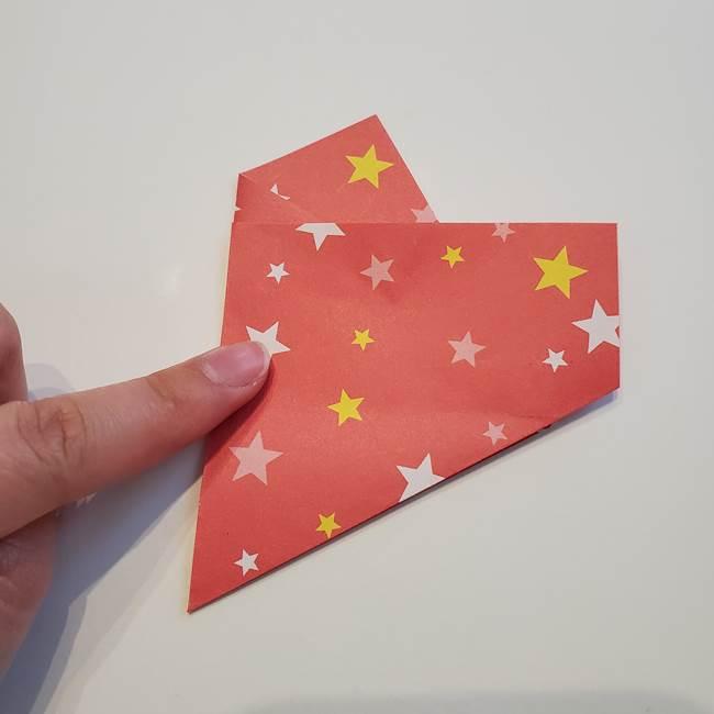 ぷくぷく星の折り紙 星型の箱の折り方作り方①六角形(9)