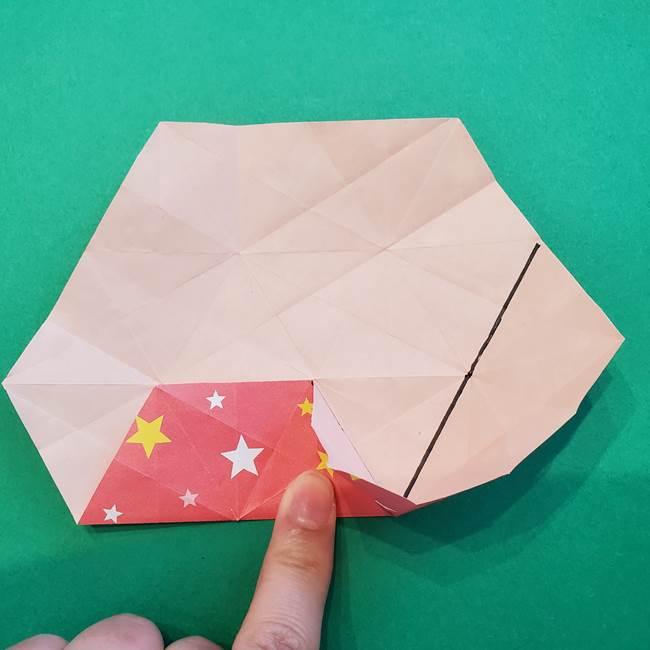 ぷくぷく星の折り紙 星型の箱の折り方作り方②完成(13)