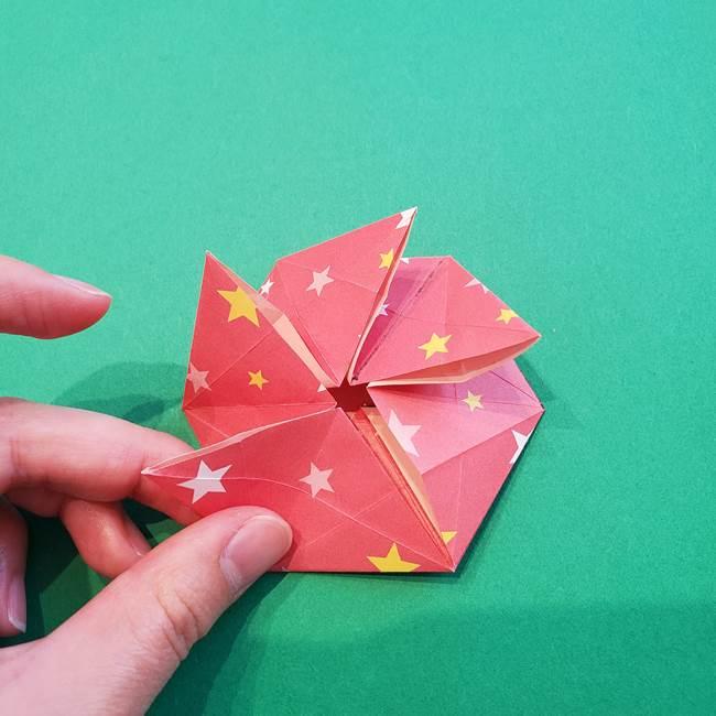 ぷくぷく星の折り紙 星型の箱の折り方作り方②完成(15)