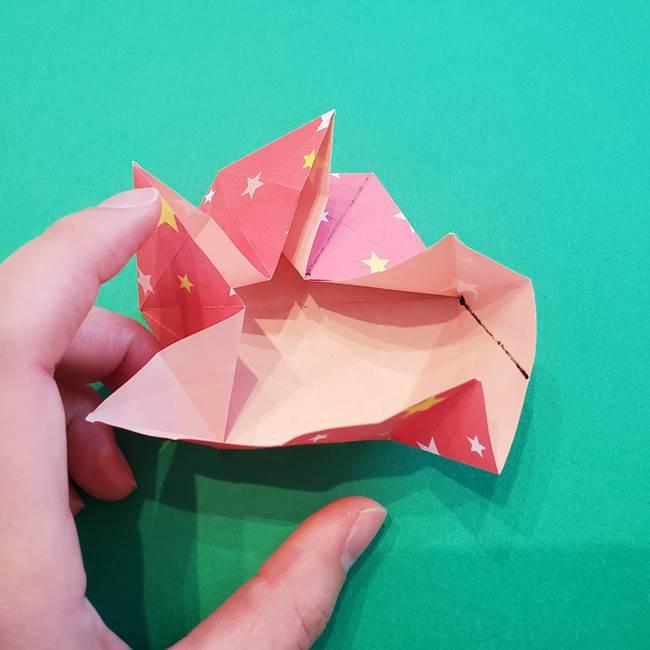 ぷくぷく星の折り紙 星型の箱の折り方作り方②完成(16)