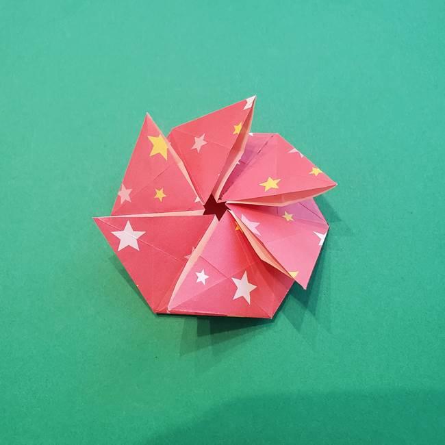 ぷくぷく星の折り紙 星型の箱の折り方作り方②完成(18)