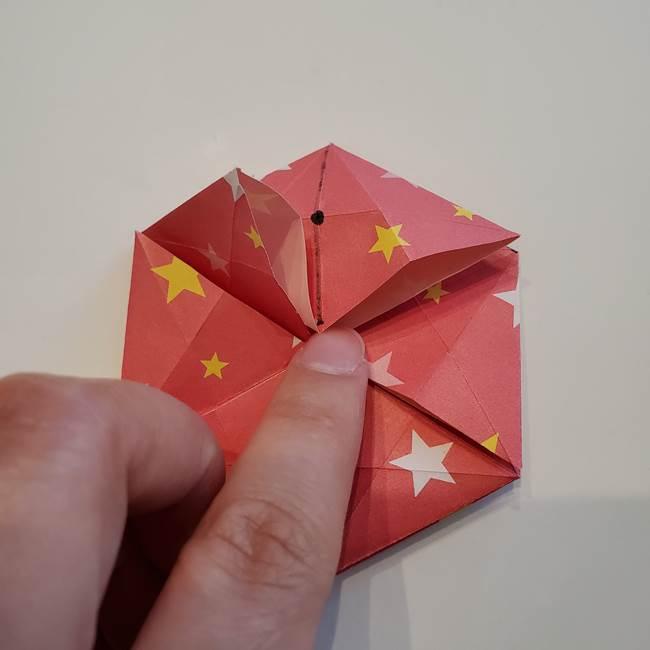 ぷくぷく星の折り紙 星型の箱の折り方作り方②完成(19)