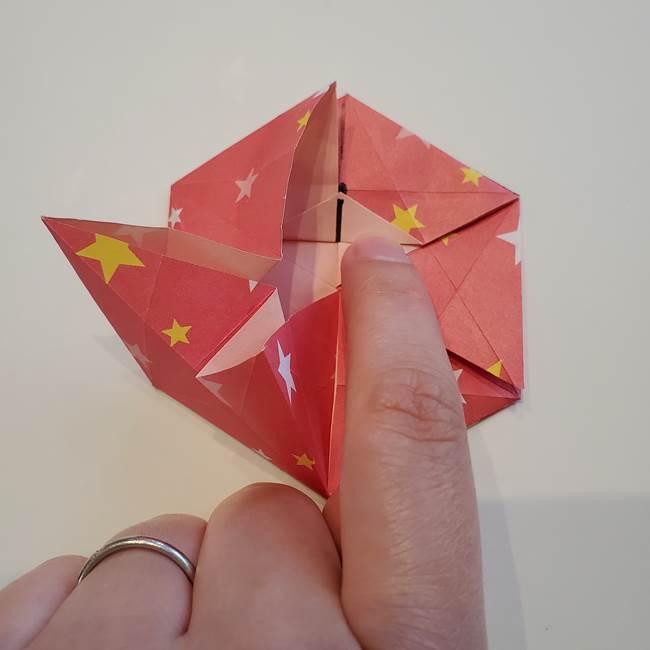 ぷくぷく星の折り紙 星型の箱の折り方作り方②完成(20)