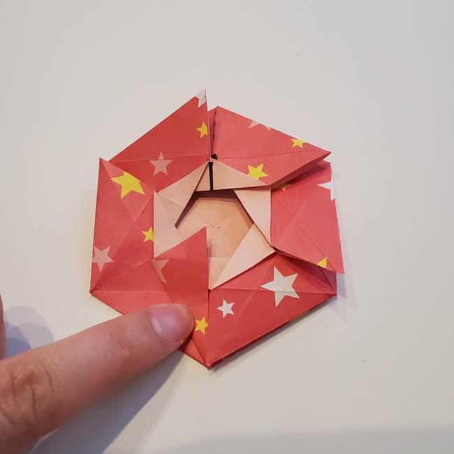 ぷくぷく星の折り紙 星型の箱の折り方作り方②完成(23)