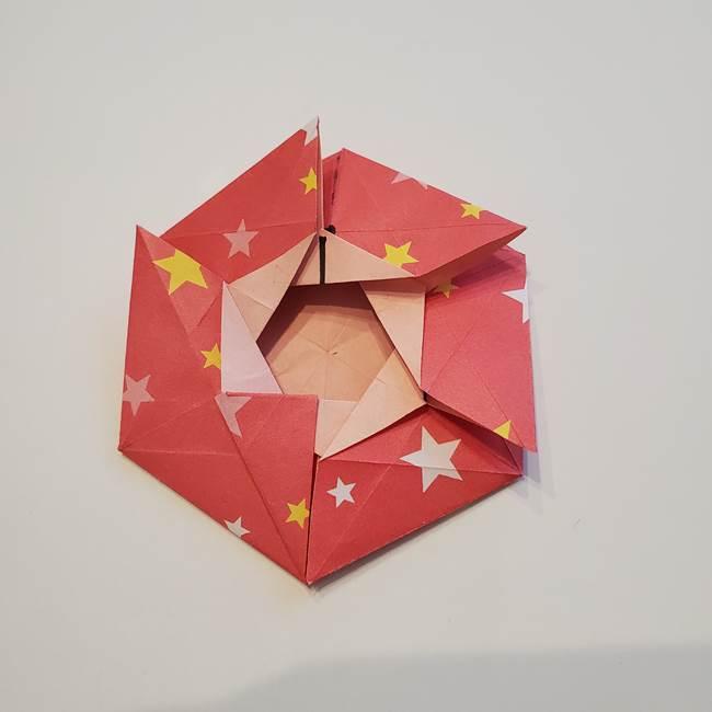 ぷくぷく星の折り紙 星型の箱の折り方作り方②完成(25)