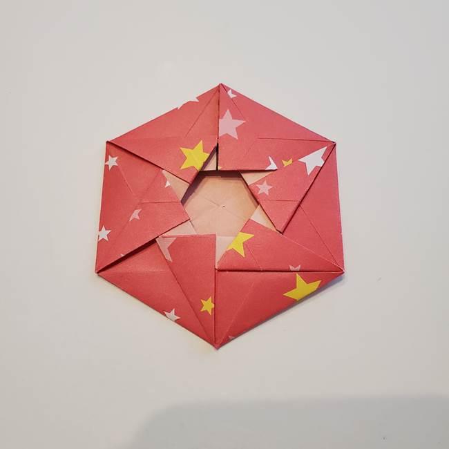 ぷくぷく星の折り紙 星型の箱の折り方作り方②完成(26)